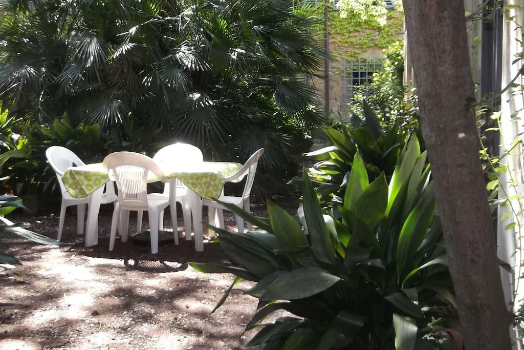 Private area in the garden