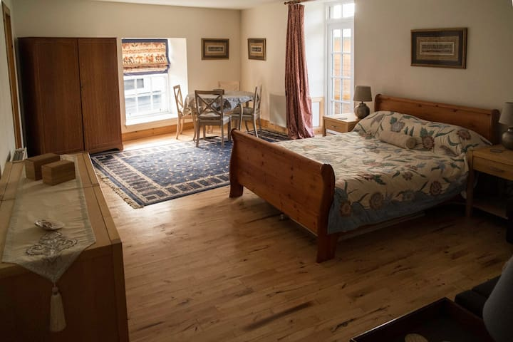 Comfortable spacious studio  apartment with large kingsize bed and double sofa bed