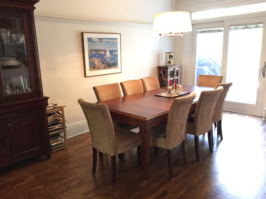 Formal Dining Room Comfortably Seats 8