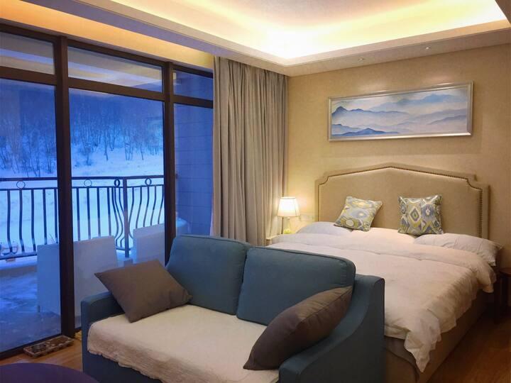 崇礼云顶滑雪场内云顶丽苑滑进滑出温馨公寓