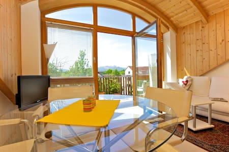 Schicke 2 Zi-Dachwohnung/ Bergblick - Apartament