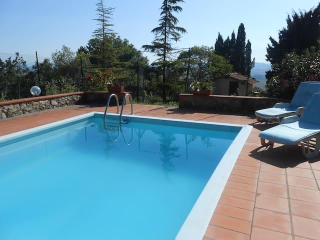 Villa Fonterossa and swimming pool  - Lajatico - Villa