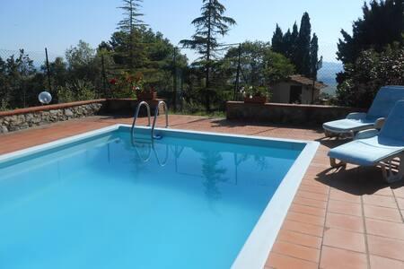 Villa Fonterossa and swimming pool  - Lajatico - 别墅