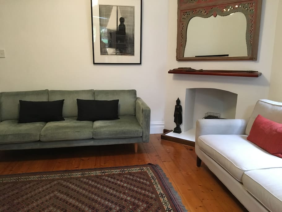 Two three seater  lounge area , with TV, Blue ray, apple tv Cable Tv, hi fi system, wifi
