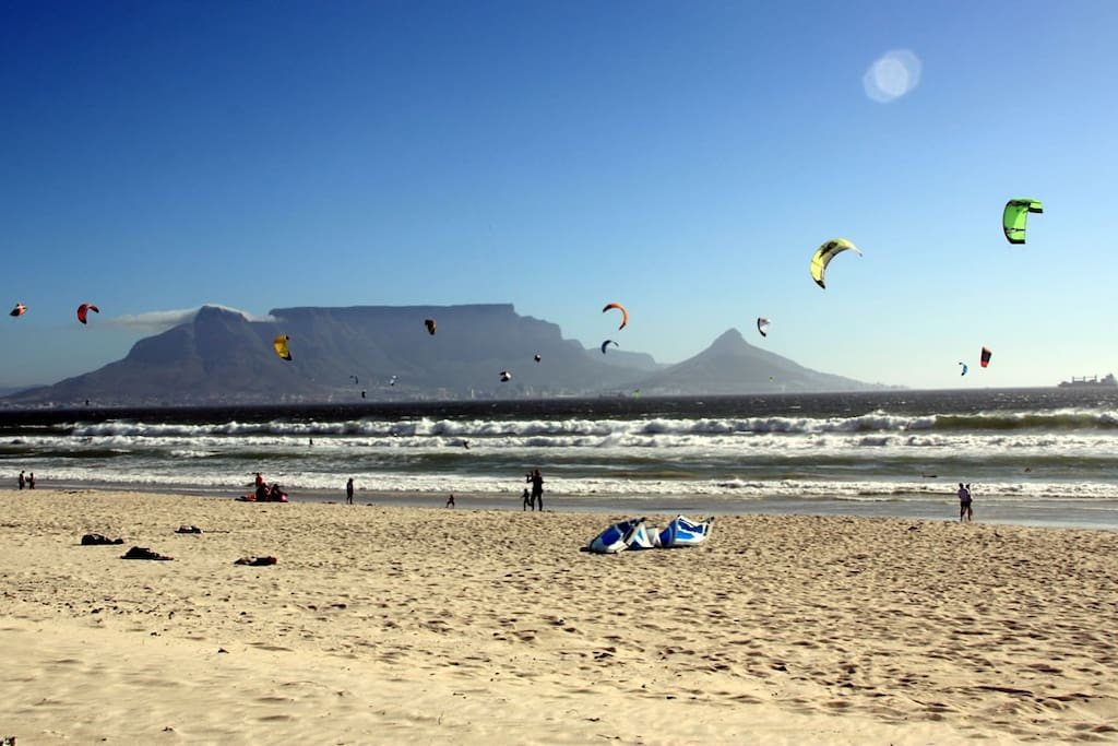 Perfect kite surfing spot.