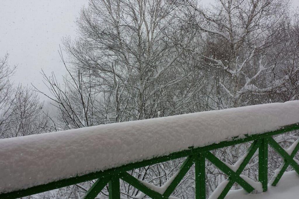 Terrace in winter
