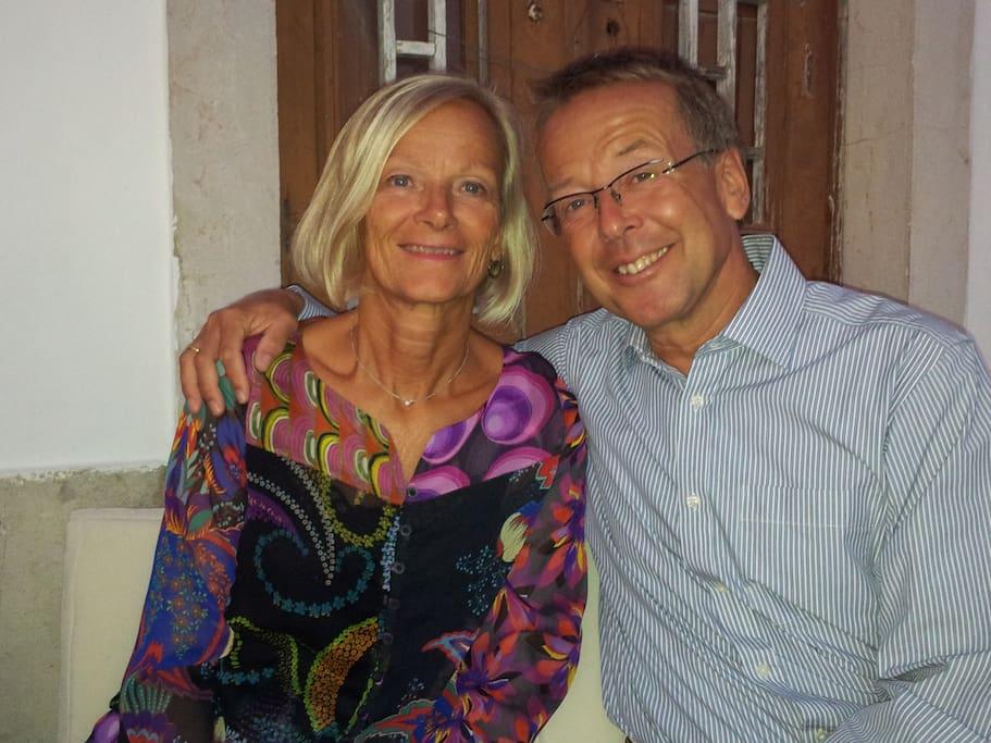 Your hosts, Kjersti and Jan-Ketil. See Casa Rosa at www.casarosa.eu.com