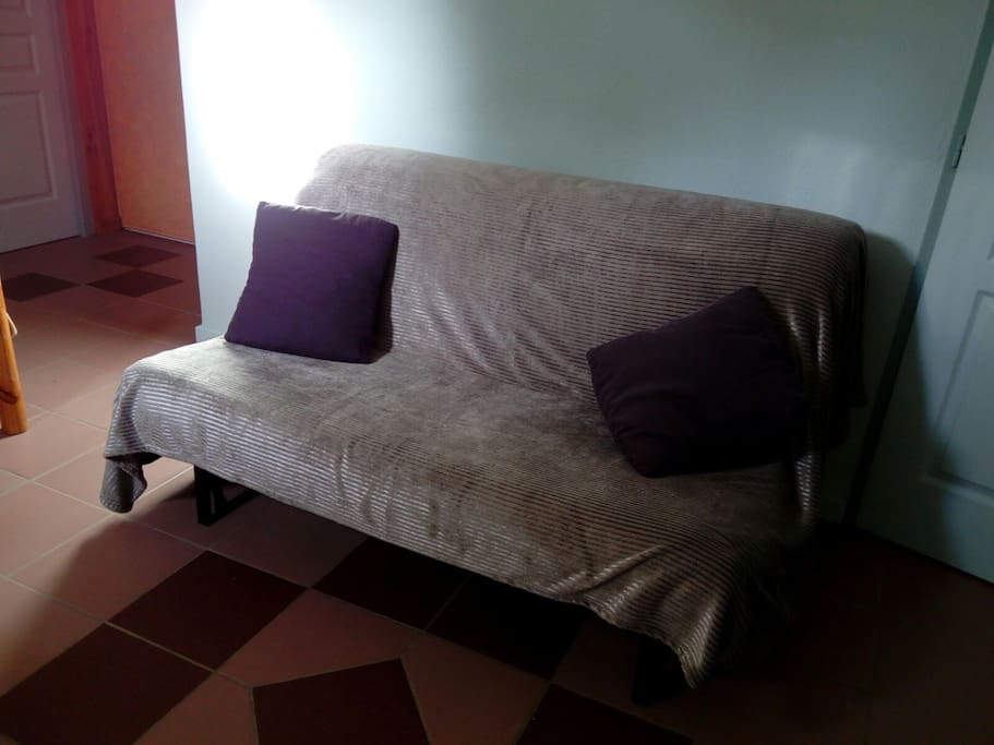 Couchage 2 : clic-clac  2 places
