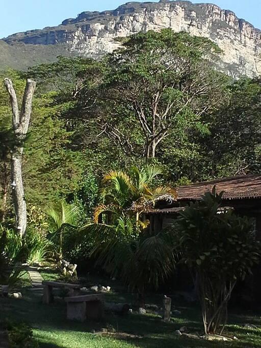 MORRO BRANCO, UMAS DAS ATRAÇÕES DO VALE DO CAPÃO VISTO DO HOSTEL