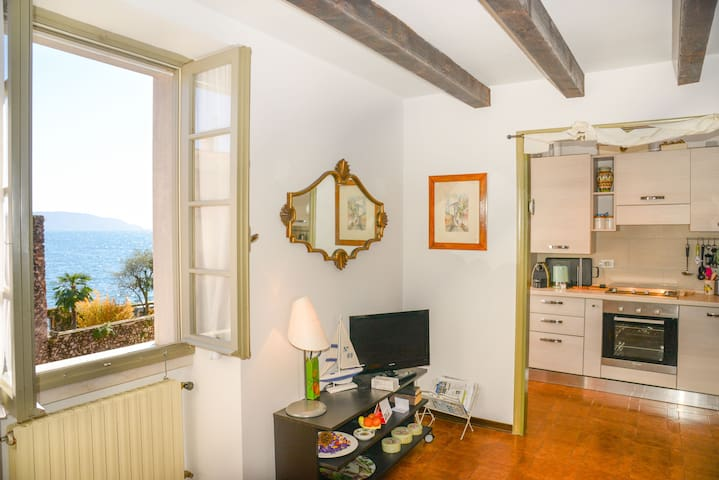 WONDERFUL FLAT WITH LAKE VIEW, WIFI - Gargnano - Lägenhet