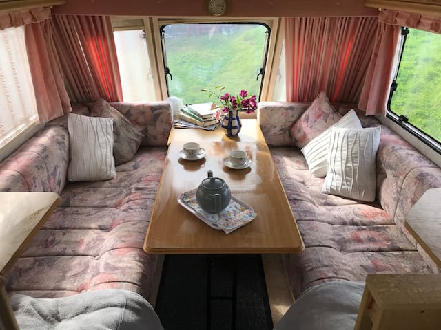 Private caravan on small Croft