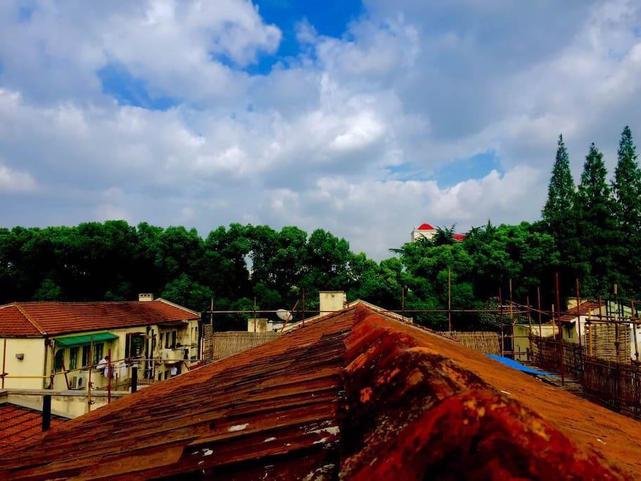 屋顶上的租界天空