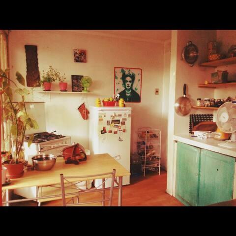 La cocina, muy acogedora