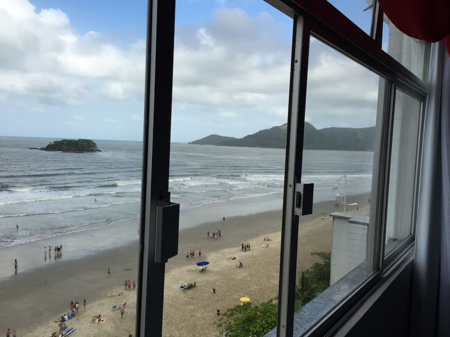 Visão excepcional da praia.