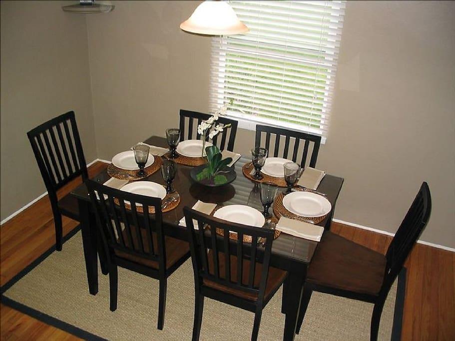 Separate Dining Area