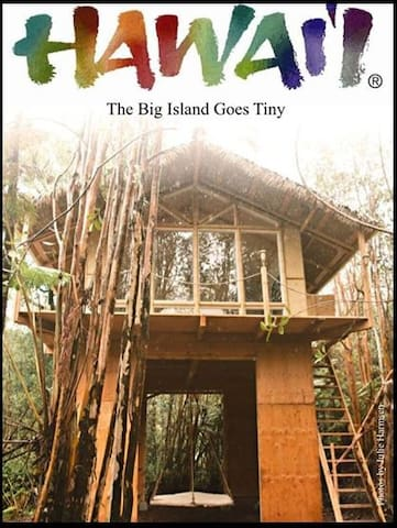The treehouse featured in Tiny House Magazine.