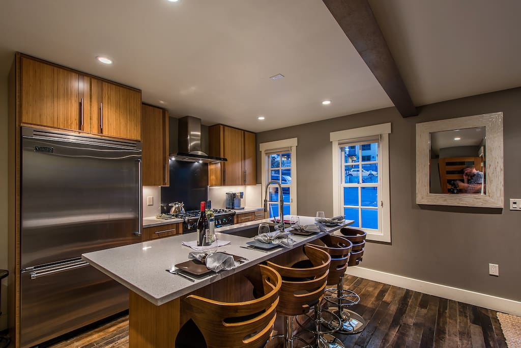 Awesome high end kitchen with only the best brands of appliances