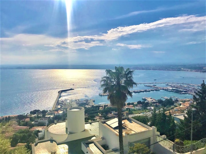 Magnifique villa avec piscine, jacuzzi et vue mer