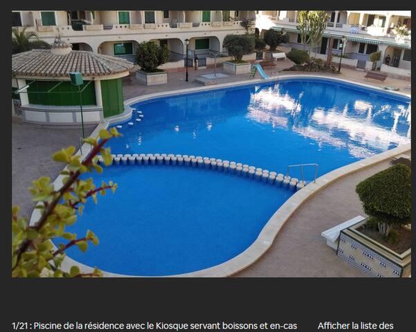 Appa 4pers dans  Rèsid (solarium privé et piscine)