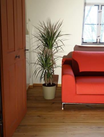 Durchgangsraum zum Badezimmer mit Schlafsofa für 2 Personen