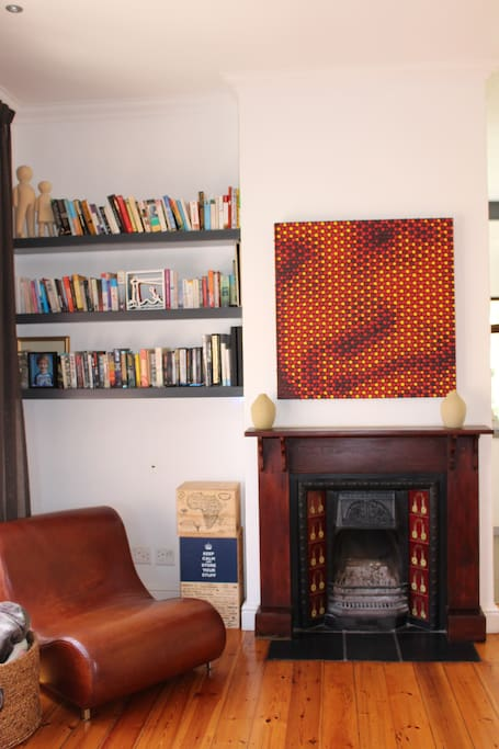 Reading Corner and Fireplace