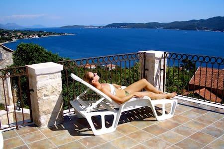 Spacious Dalmatian Villa with Pool - Viganj - 別荘