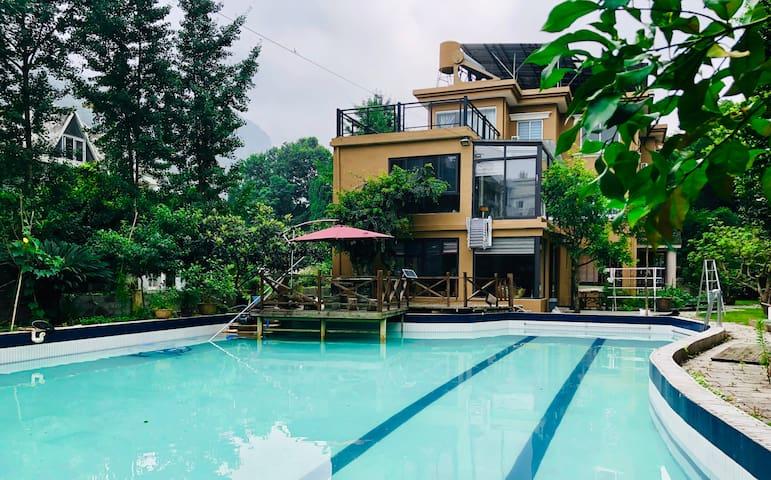 【中雁荡风景区】自驾首选 独栋别墅  超大私人泳池 可做饭 度假游玩圣地