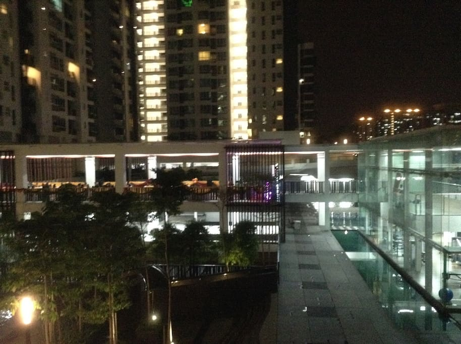 gym and yoga room overlooking the KL city