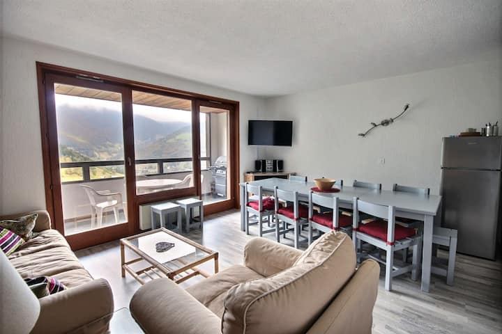 DUPLEX APARTMENT WITH SWIMMING POOLD ACCESS AND WIFI  - SAINT JEAN D'AULPS STATION SKI RESORT- 9 PEOPLE - DAILLE 14