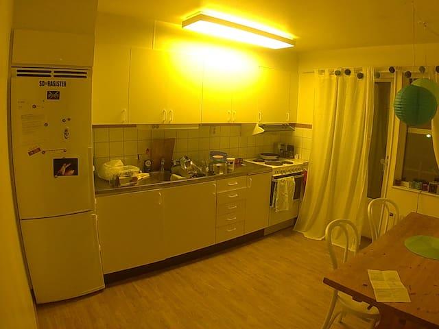 Familj/djurvänglig etta m stort kök - Mora - 公寓