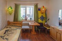 1st floor living room in the Oriental style design