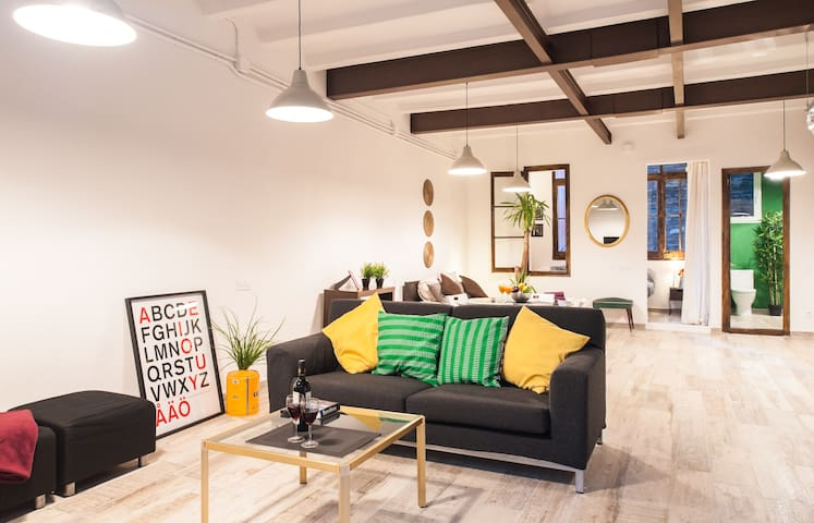 Cheap loft in Center**wifi & fira - Barcelona - Daire