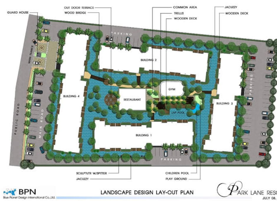 Layout of the resort