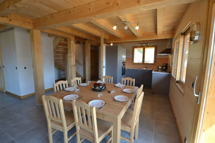 Cosy chalet LE CHAMP DE LA CAILLE, stunning mountain views