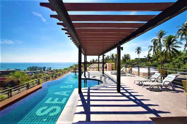 Karon, Phuket 93m² Apartment SEA VIEW balcony 8m²