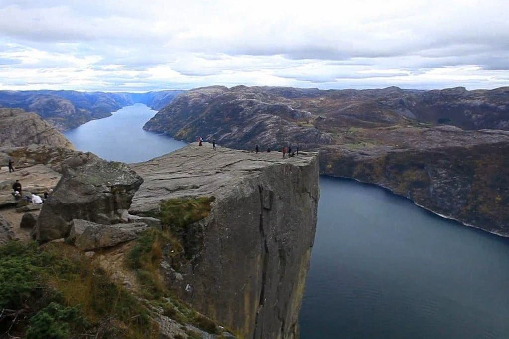 The Pulpit Rock in Lysefjorden.