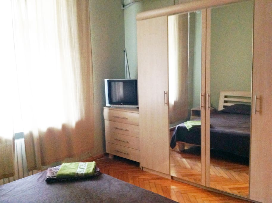 Large wardrobe and cable TV