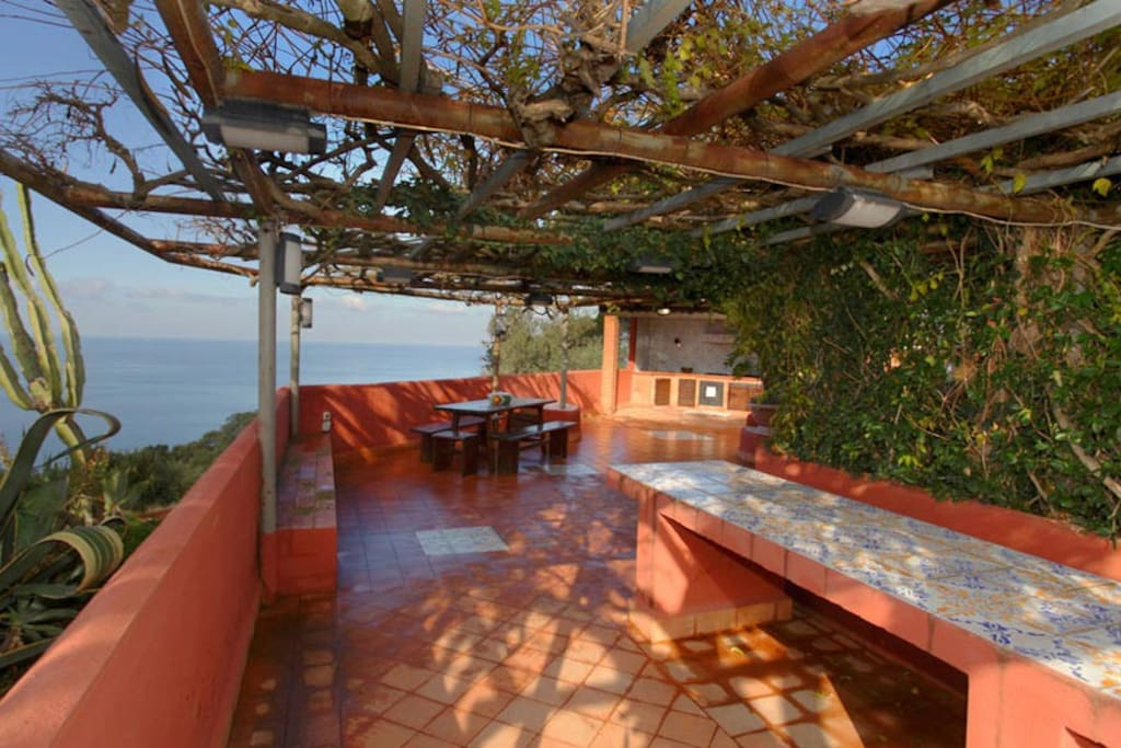 It features panoramic terraces with breathtaking views over the Tyrrhenian Sea...