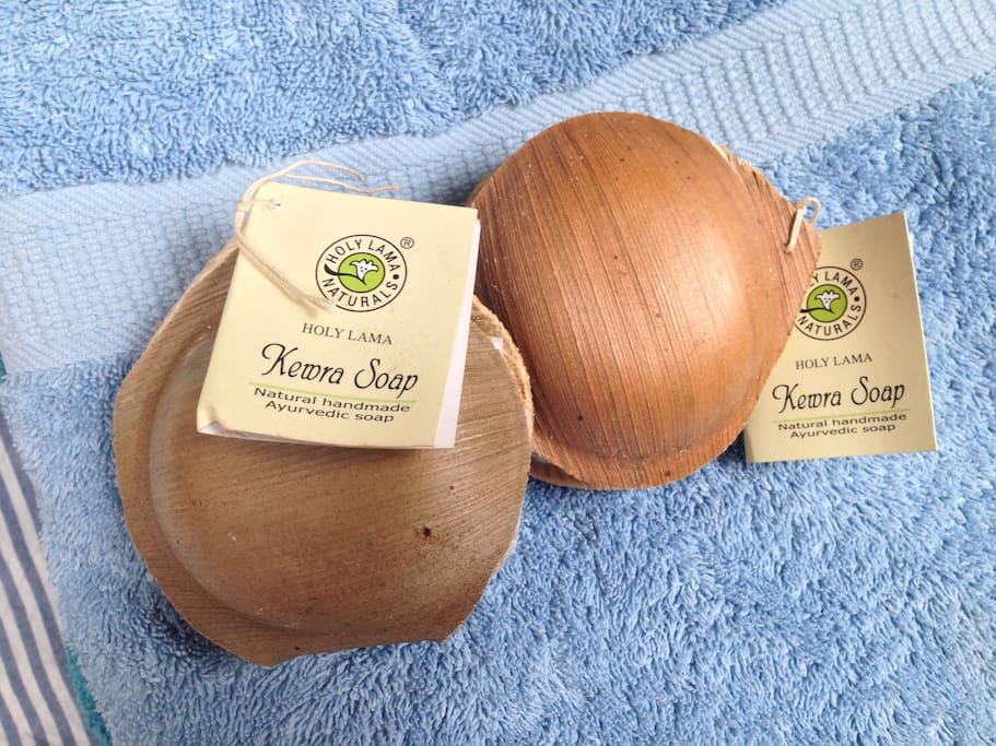 Each guest receives their own handmade Ayurvedic soap from India