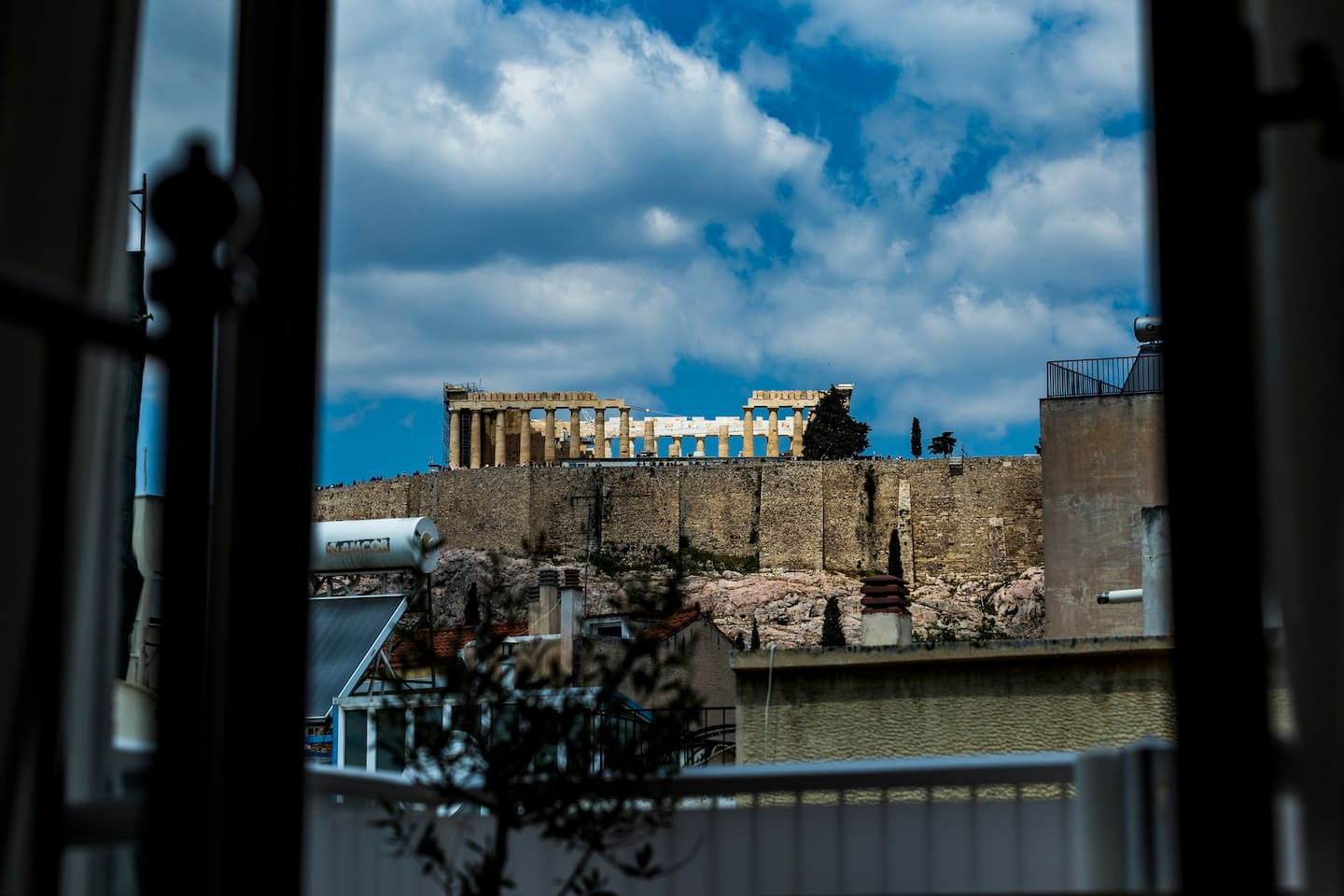 The Unique Acropolis view from the Bedroom