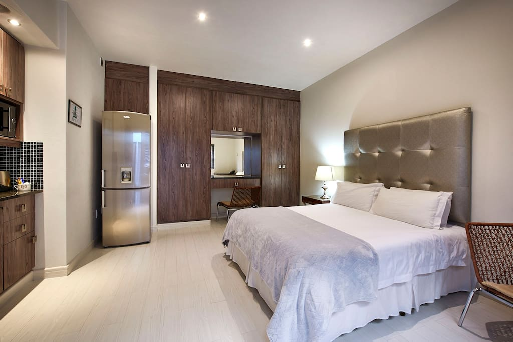 Bed with Kitchenette