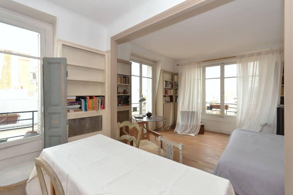 appartement lumineux paris 15 me apartamentos en. Black Bedroom Furniture Sets. Home Design Ideas