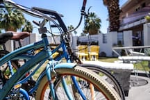 Bikes are available for our guests to use while they are here