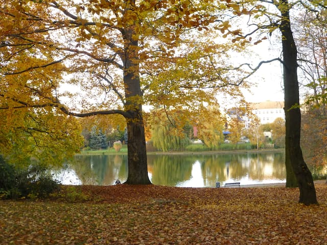 Grünes Lichtenberg am Park und See - Berliini