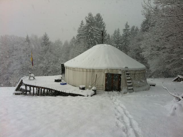 A quiet yurt  in Savoie - Bauges