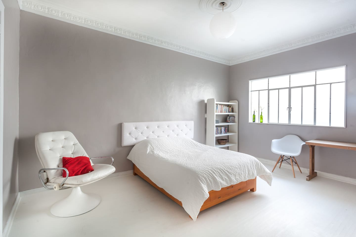 Your spacious, comfortable and very well lit bedroom.