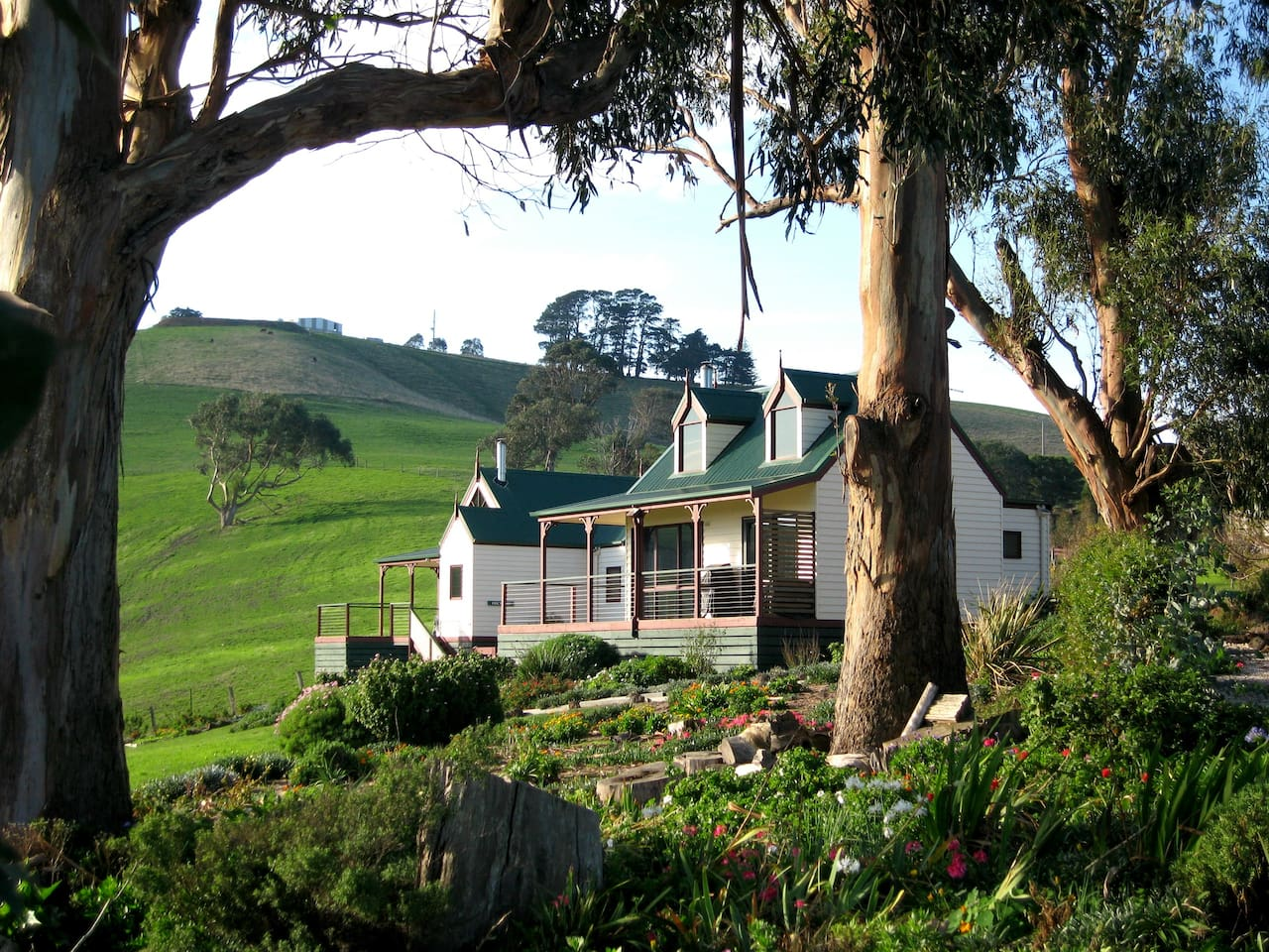 Our cottages set amongst rolling green pastures in a fairytale setting