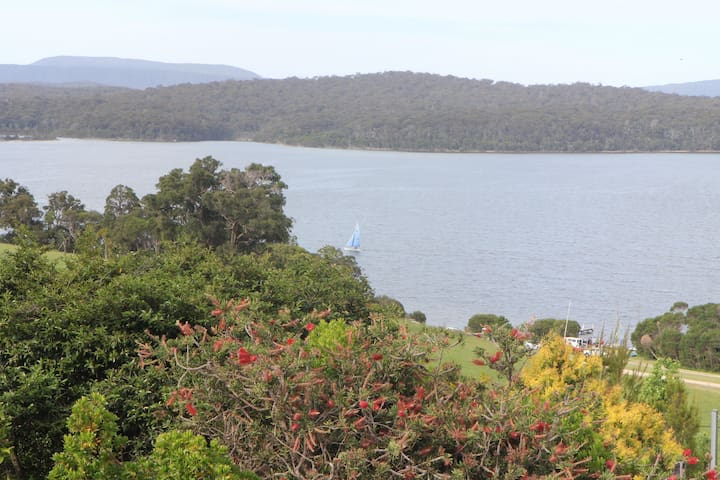 View of Bottom Lake from deck