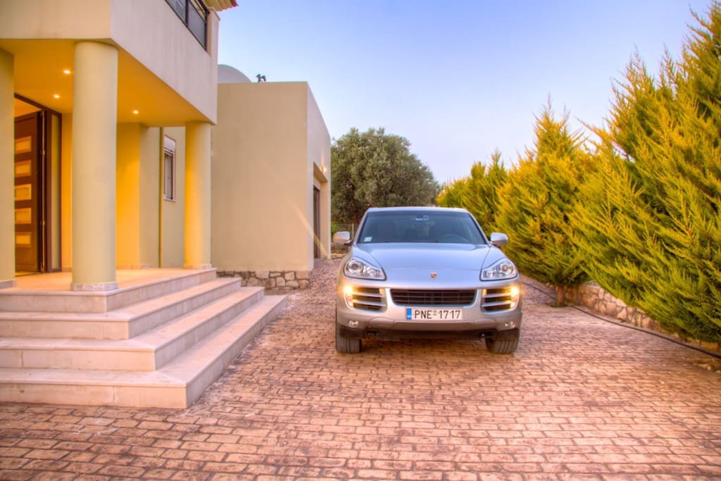 Off the road parking at the villa