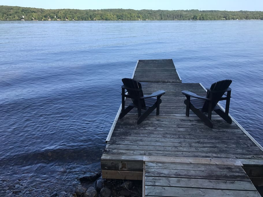 Relax on our private dock